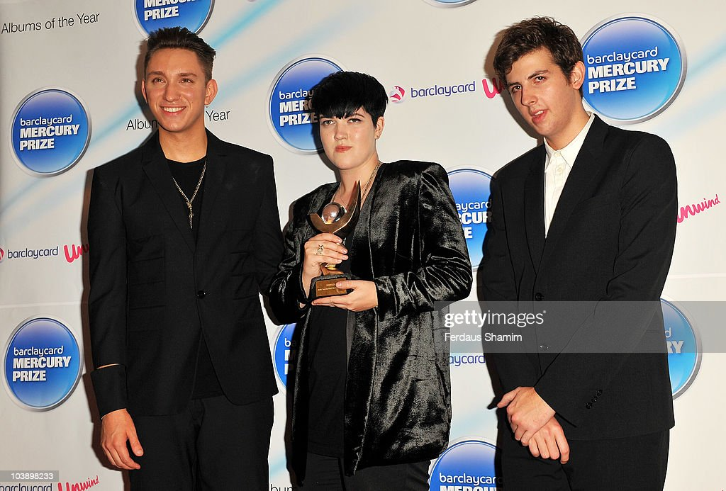 The xx with Oliver Sim Jamie Smith and Romy Madley Croft pose after winning the Barclaycard Mercury Prize for the album 'xx' at the Grosvenor House...