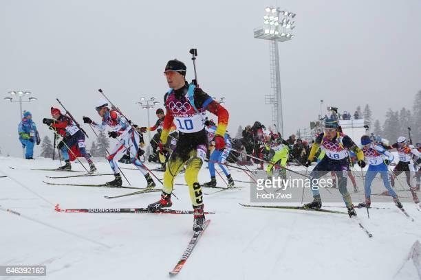 The XXII Winter Olympic Games 2014 in Sotchi Olympics Olympische Winterspiele Sotschi 2014 Men's 15km Mass Start Biathlon Simon Schempp / GER