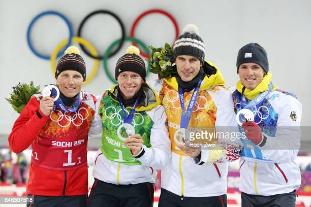 The XXII Winter Olympic Games 2014 in Sotchi Olympics Olympische Winterspiele Sotschi 2014 Men's 4x75km Relay Biathlon Erik Lesser Daniel Boehm Arnd...