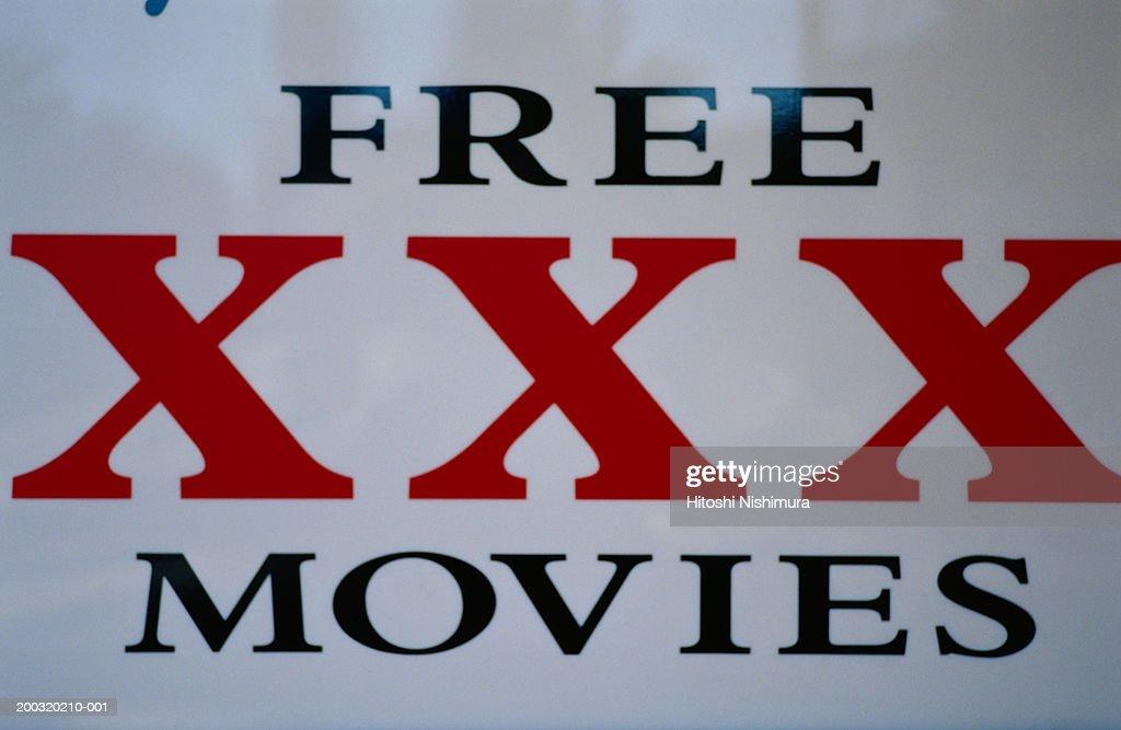 The xxx movies : Stock Photo