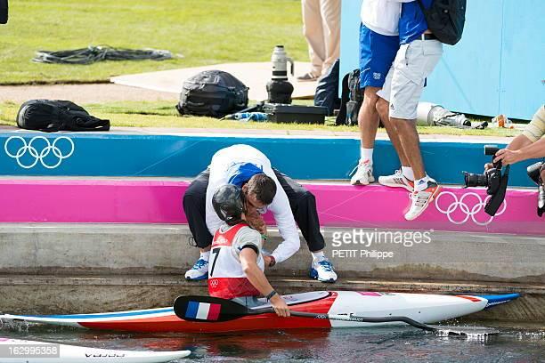 The Xxxth Summer Olympic Games In London 2012 Kayak Tests In Lee Valley Jeux Olympiques d'été de Londres 2012 l'épreuve de kayak slalom dames au Lee...