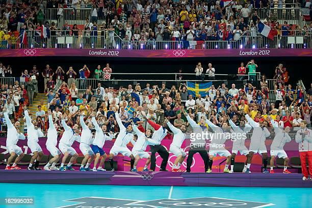 The Xxxth Summer Olympic Games In London 2012 The Finale Of Handball Is Won By France L'équipe masculine de handball remporte la finale contre la...