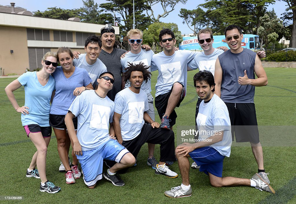 The Y team pose at the Founder Institute's Silicon Valley Sports League on July 13, 2013 in San Francisco, California.