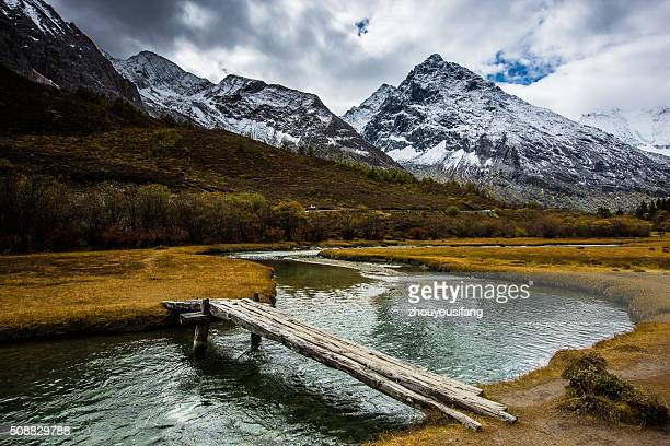 The Yading national park scenery of Sichuan