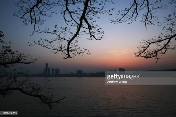 The Yangtze River flows downstream on April 19 2007 in Wuhan China The Yangtze river the longest in Asia and third longest in the world is critically...