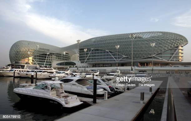The Yas Hotel in the Yas Island Marina Abu Dhabi United Arab Emirates