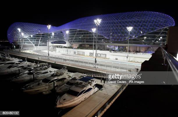 The Yas Hotel in the Yas Island Marina in Abu Dhabi United Arab Emirates