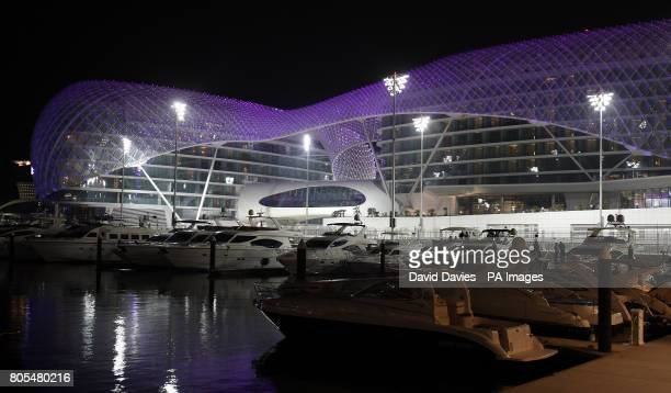 The Yas Hotel in Yas Island Marina in Abu Dhabi United Arab Emirates