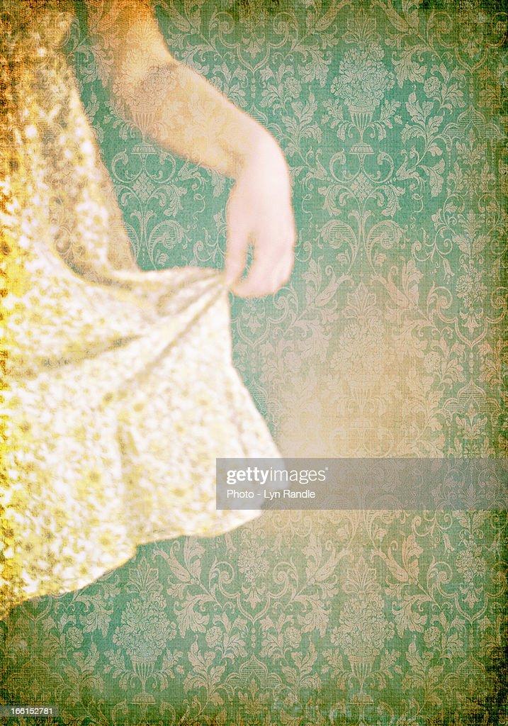 The Yellow Dress : Stock Photo