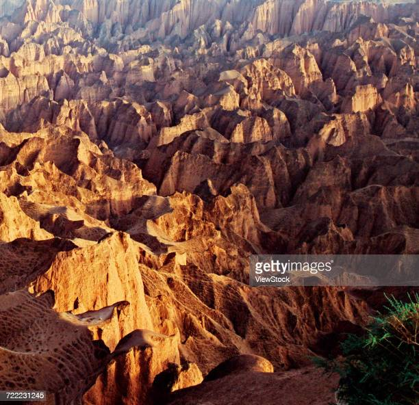 The Yellow River Stone Forest of Jingtai County,Ningxia Province,China