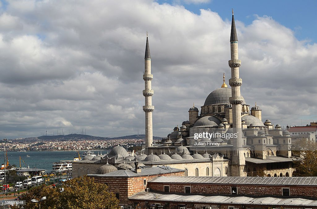 The Yeni Camii The New Mosque in the Eminonu district is seen on October 23 2011 in Istanbul Turkey