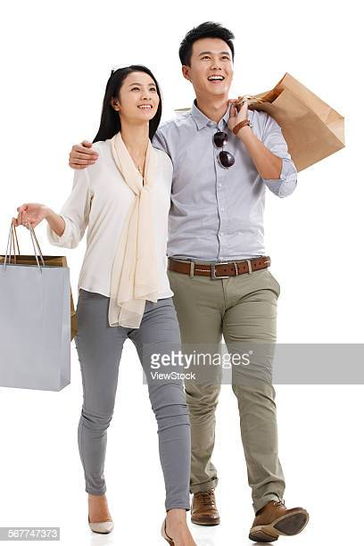 The young couple shopping