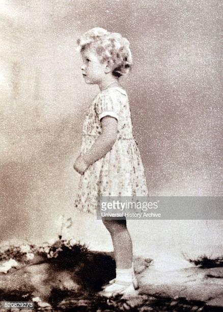 The young Princess Elizabeth aged three