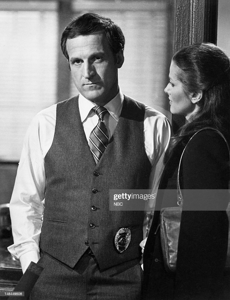 BLUES -- 'The Young, the Beautiful and the Degraded' Episode 214 -- Pictured: (l-r) Daniel J. Travanti as Captain Frank Furillo, Veronica Hamel as Joyce Davenport --