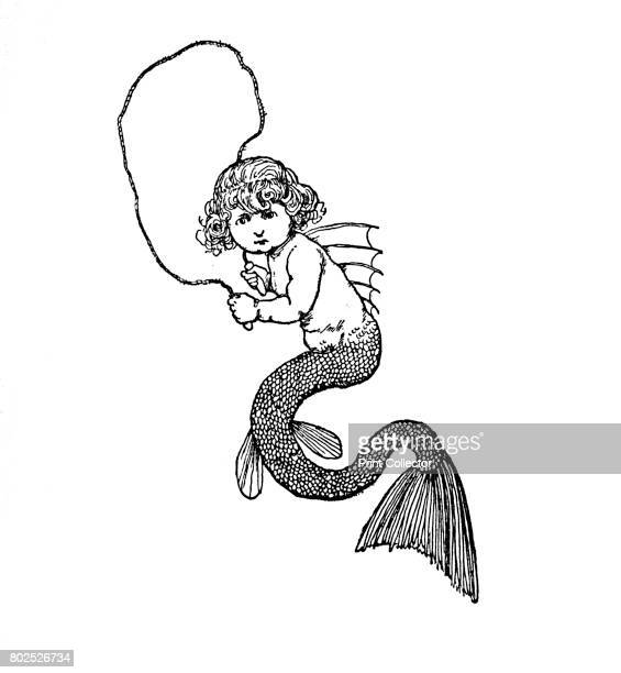 The Youngest Was The Most Lovely' c1930 An illustration from 'The Little Mermaid' by Hans Christian Andersen From Hans Andersen's Fairy Tales by Hans...