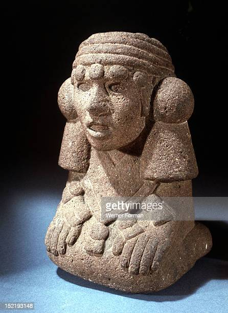 The youthful figure of Lady Precious Green Chalchihuitlicue who was a fertility goddess and consort to Tlaloc the rain god Mexico Aztec Period Date...