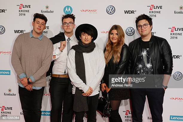 The youtuber Julien Bam and crew attend the 1Live Krone at Jahrhunderthalle on December 1 2016 in Bochum Germany