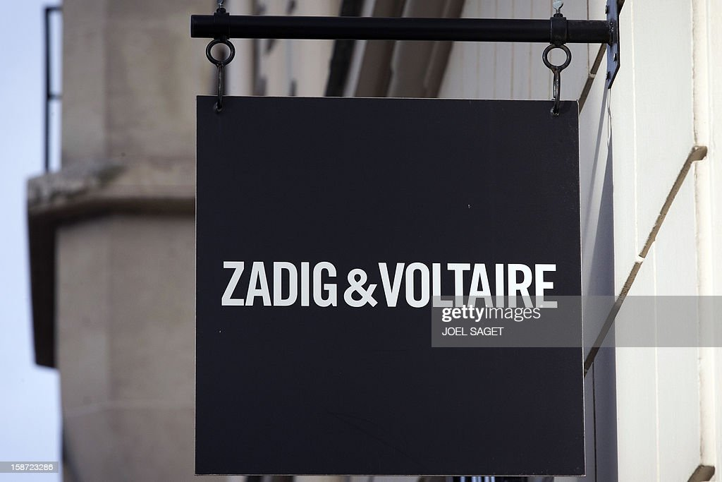 The Zadig & Voltaire store name is pictured above the facade of a shop, on December 26, 2012 in Paris.