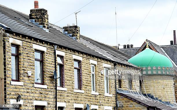 The Zakaria mosque is seen amongst terraced houses in Savile Town Dewsbury on July 5 2015 Ten years after the ringleader of the 2005 London bombings...