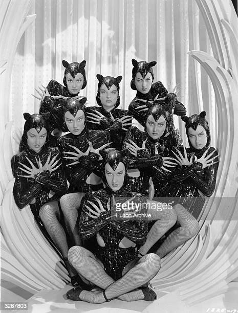 The Ziegfeld Girls in panther costume as they appear in the film 'Ziegfeld Follies' a spectacular revue depicted as a dream sequence in heaven dreamt...