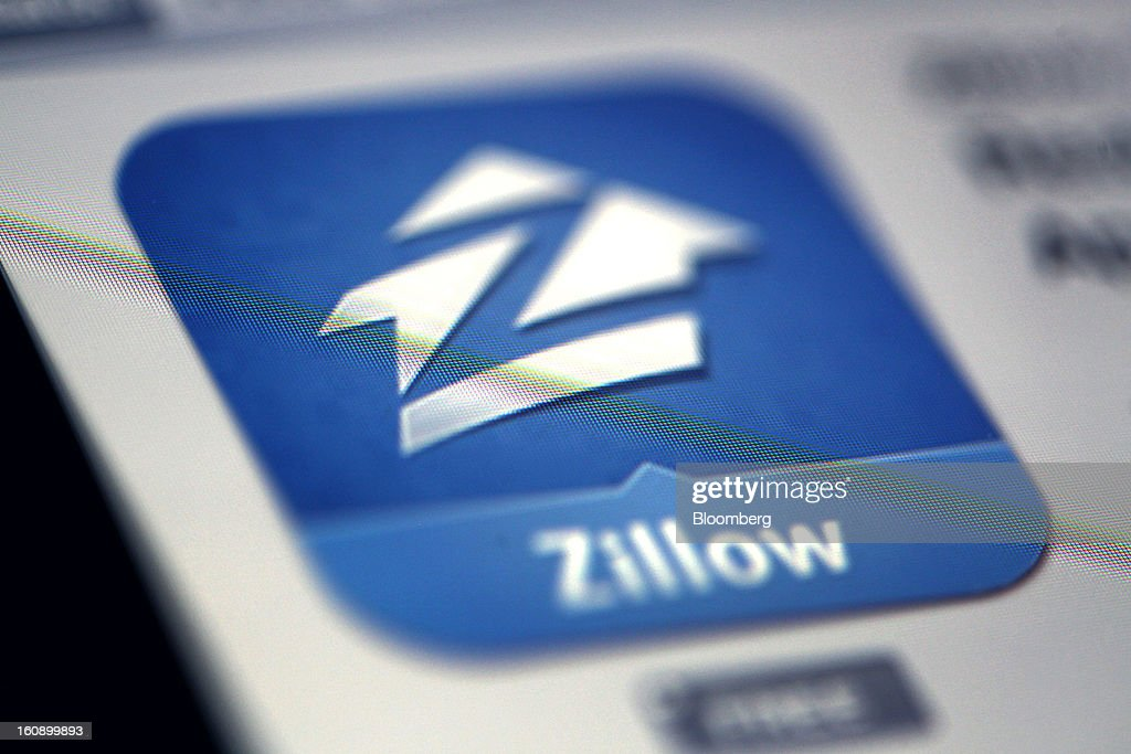 The Zillow Inc. logo is displayed on a computer monitor in Des Plaines, Illinois, U.S., on Tuesday, Feb. 5, 2013. Zillow Inc. is scheduled to release earnings data on Feb. 13. Photographer: Tim Boyle/Bloomberg via Getty Images