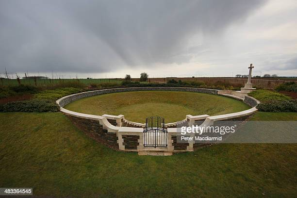 The Zivy Crater cemetery contains the graves of 53 First World War soldiers all of whom died in 1917 on the Vimy battlefield on March 26 2014 in...