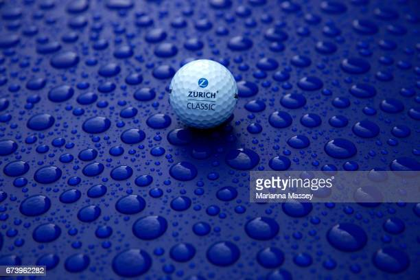 The Zurich ball is seen during the first round of the Zurich Classic at TPC Louisiana on April 27 2017 in Avondale Louisiana