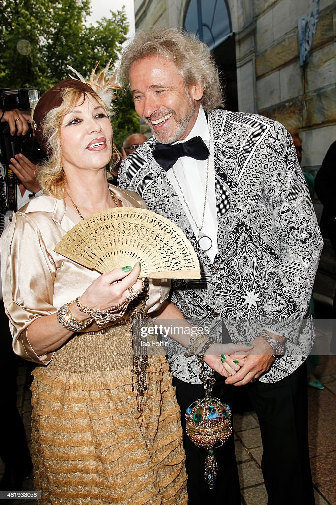 Thea Gottschlak and Thomas Gottschalk attend the Bayreuth Festival 2015 Opening on July 25 2015 in Bayreuth Germany