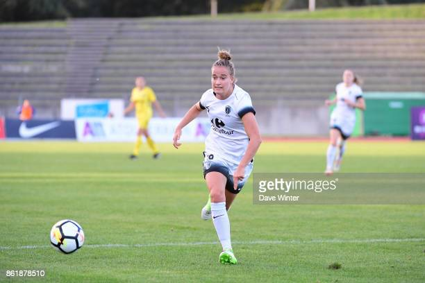Thea Greboval of Paris FC during the women's Division 1 match between Paris FC and Paris Saint Germain on October 15 2017 in Paris France