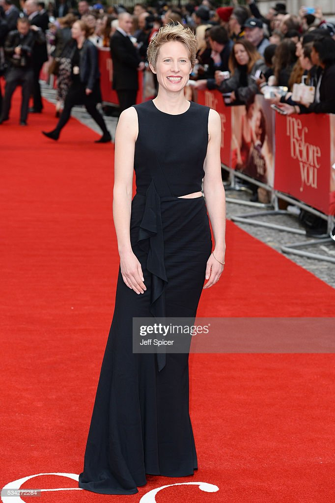 Thea Sharrock attends the European film premiere 'Me Before You' at The Curzon Mayfair on May 25, 2016 in London, England.