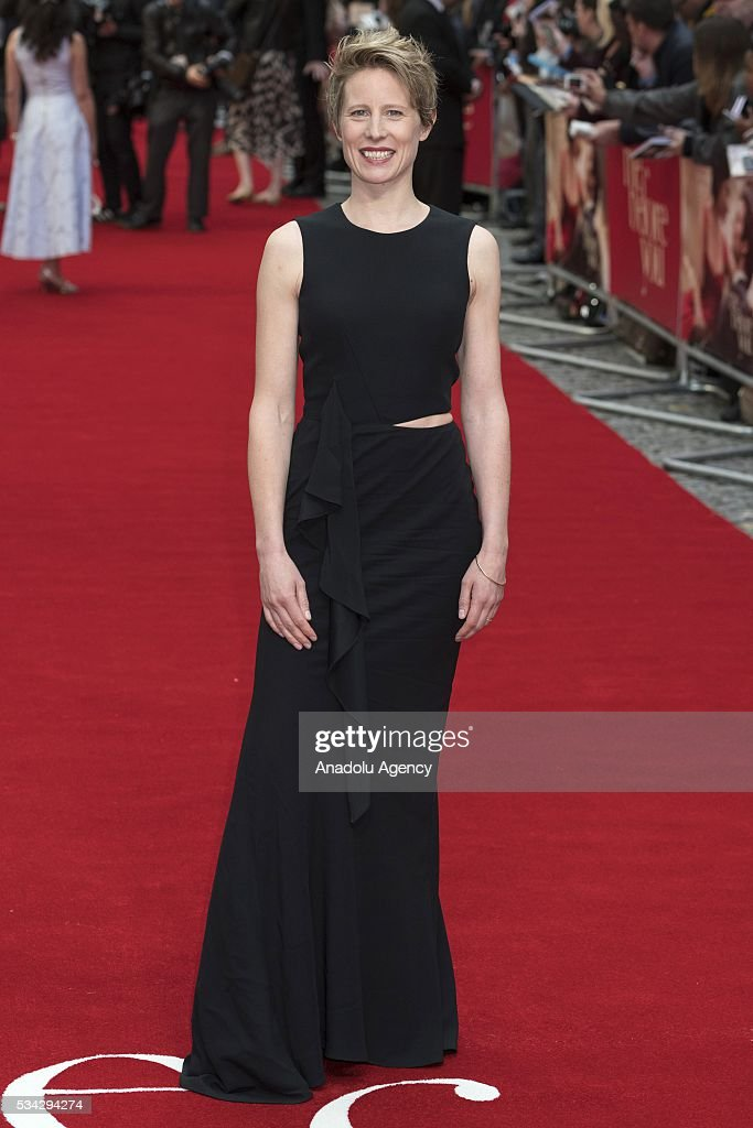 Thea Sharrock attends the film premiere of Me Before You in London, United Kingdom on May 25, 2016.