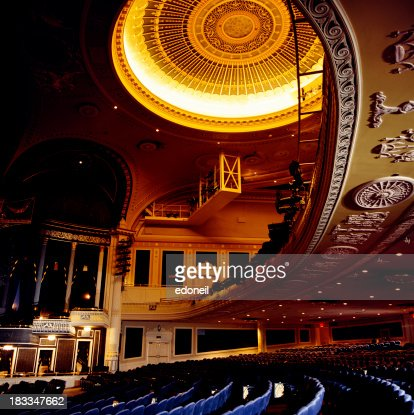 Theater balcony and seating stock photo getty images for Balcony seating