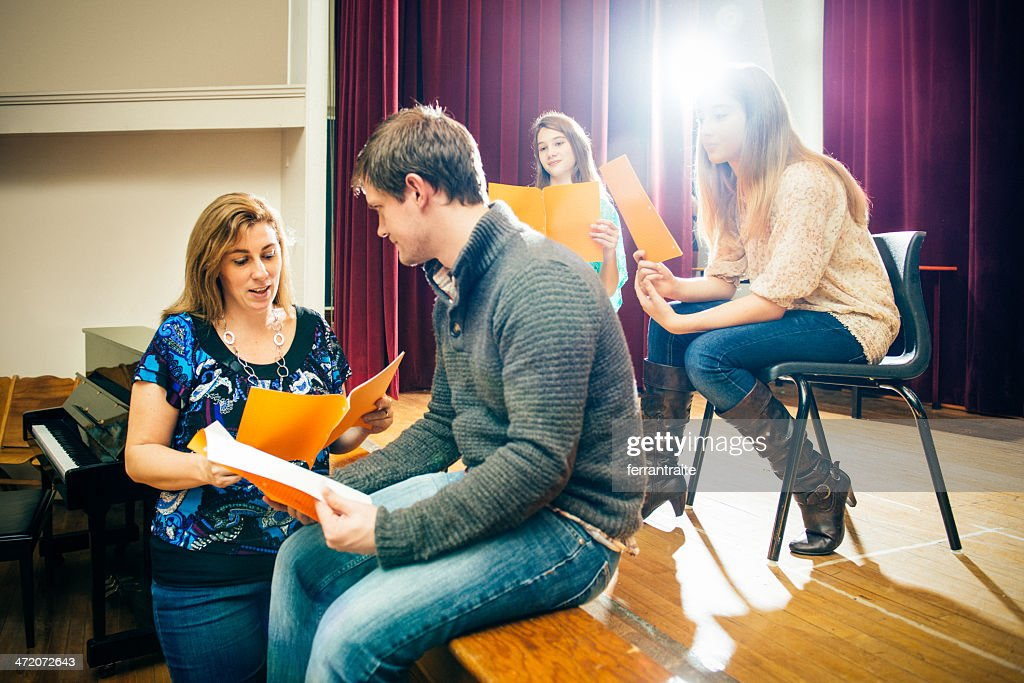 Theater Group Rehearsing : Stock Photo