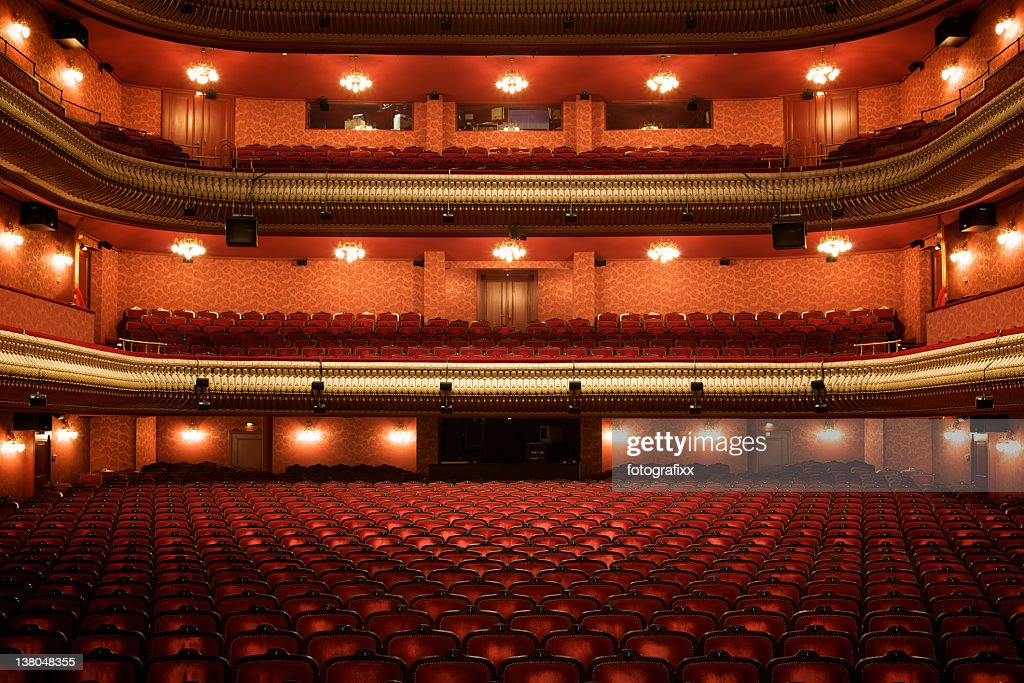 Theater interior: empty classical theater : Stock Photo