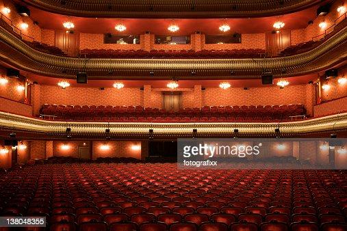 Theater interior: empty classical theater