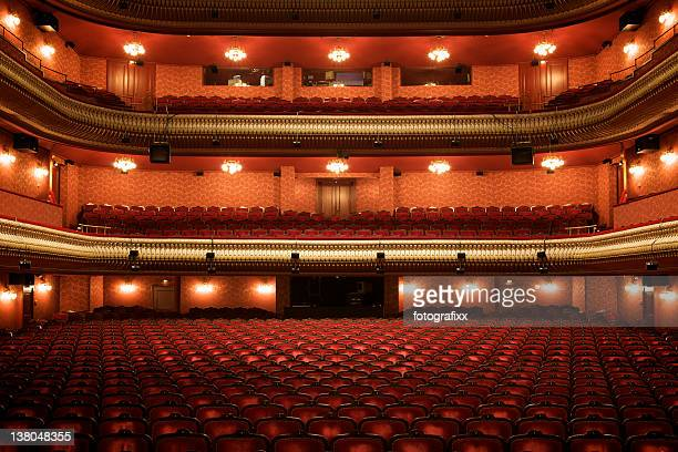 Theater interior: empty classical theater