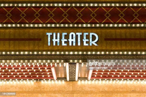 Insegna al Neon di teatro
