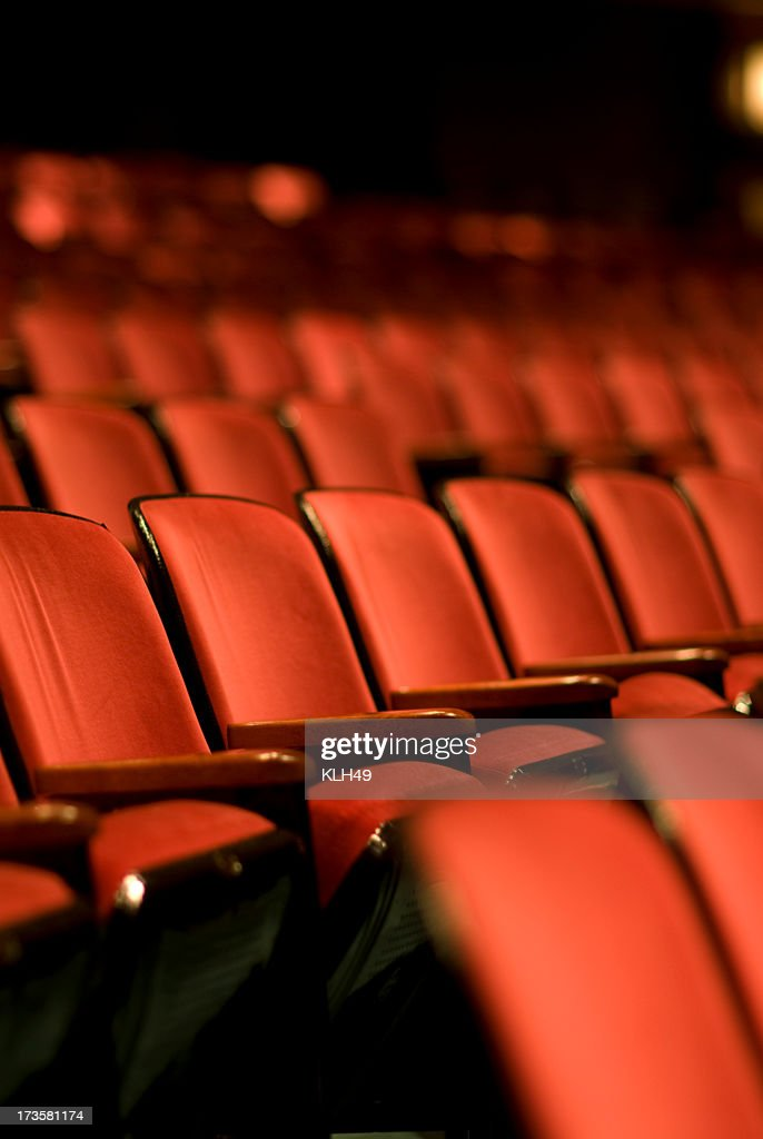 Theater seats in an empty Theater : Stock Photo