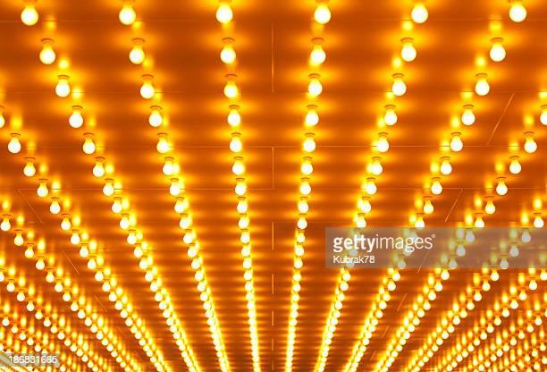劇場の看板の照明の背景