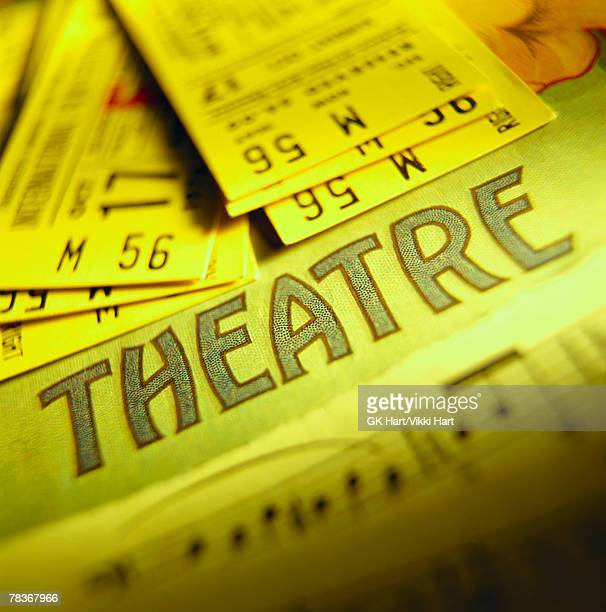 Theater tickets and sheet music