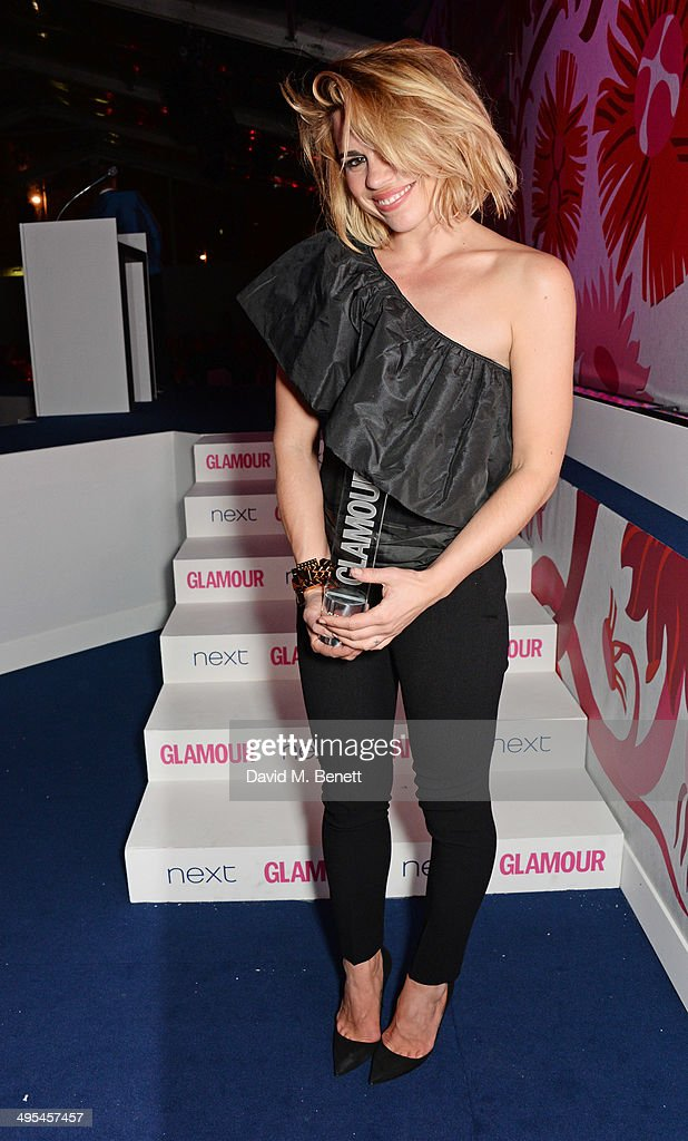 Theatre Actress award winner <a gi-track='captionPersonalityLinkClicked' href=/galleries/search?phrase=Billie+Piper&family=editorial&specificpeople=157486 ng-click='$event.stopPropagation()'>Billie Piper</a> poses at the Glamour Women of the Year Awards in Berkeley Square Gardens on June 3, 2014 in London, England.