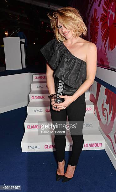 Theatre Actress award winner Billie Piper poses at the Glamour Women of the Year Awards in Berkeley Square Gardens on June 3 2014 in London England
