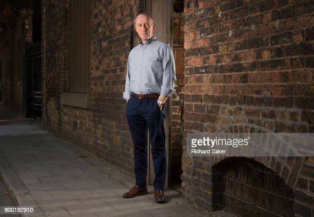 Theatre and film director Nicholas Hytner is photographed for the Observer on April 12 2017 in London England