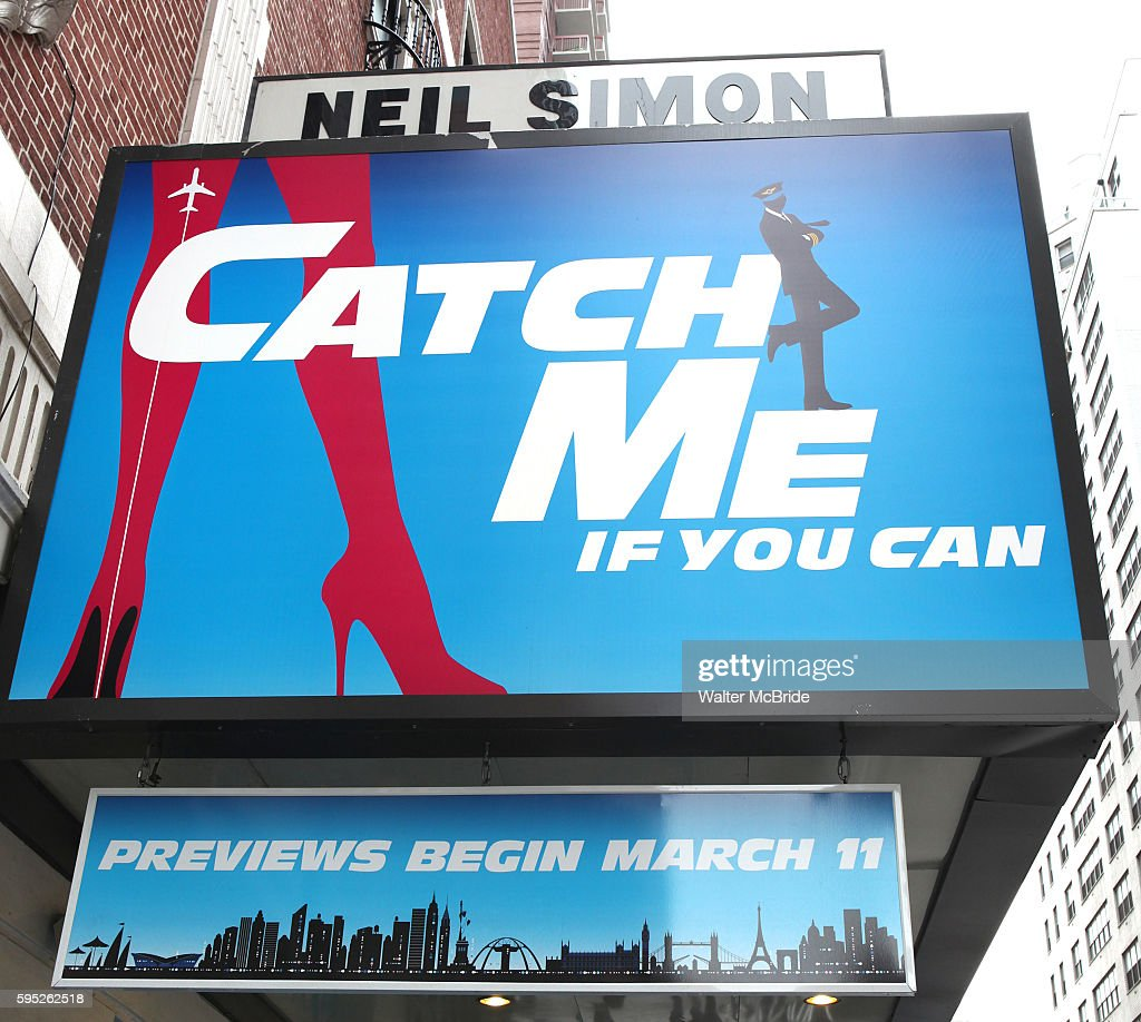 Theatre Marquee at the Broadway Opening Night Performance of 'Catch Me If You Can' at the Neil Simon Theatre in New York City