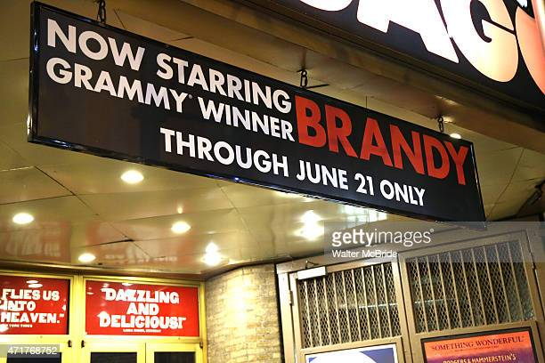 Theatre Marquee for Brandy Norwood's Broadway debut in 'Chicago' at the Ambassador Theatre on April 30 2015 in New York City
