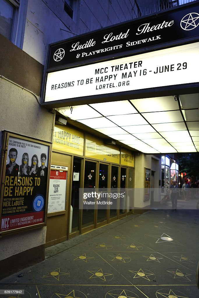 Theatre Marquee For The Opening Night Performance Curtain Call For Pictures Getty Images