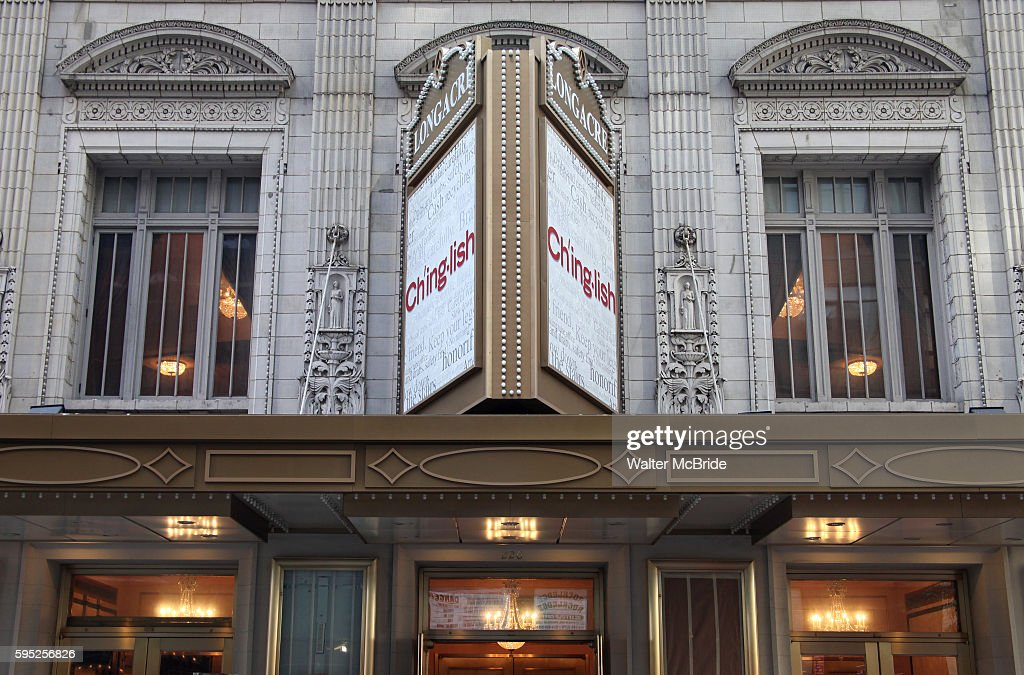Theatre Marquee unveiling for 'Ch'inglish' at the Longacre Theatre in New York City Tony Award® winnerDavid Henry Hwangreturns to Broadway with...