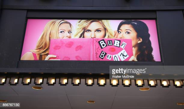 Theatre Marquee unveiling for 'Mean Girls' featuring a book by Tina Fey based on her screenplay for the film The music is by Jeff Richmond and the...