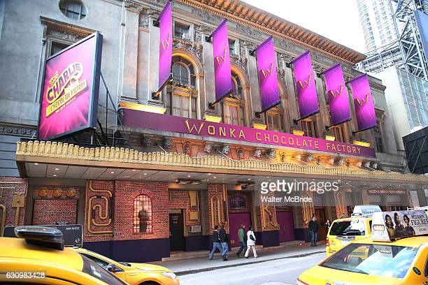 Theatre Marquee unveiling for Roald Dahl's 'Charlie and the Chocolate Factory' at the LuntFontanne Theatre on January 4 2017 in New York City