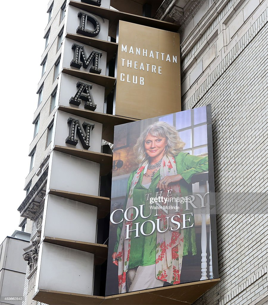 Theatre Marquee unveiling for 'The Country House' starring Blythe Danner at the Samuel J Friedman Theatre on August 15 2014 in New York City
